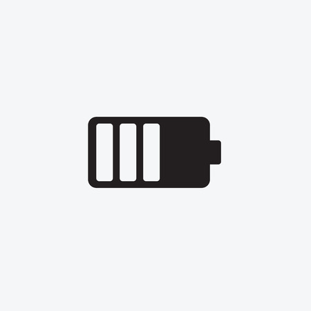 Icon graphic battery. Black and white pictogram for web design. Vector flat illustrations, logo 向量圖像