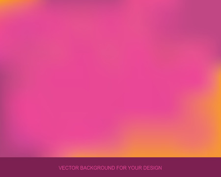 Trend blurred watercolor background. Light colored backdrop for design. Yellow - purple - pink. Vector gradient illustration.