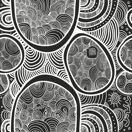 Abstract vector seamless texture. Wallpaper, backgrounds, decoration, fabric for your design. Illusztráció