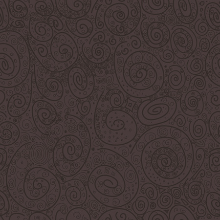Abstract drawn with curls vector seamless texture. Wallpaper, backgrounds, decoration, fabric for your design.