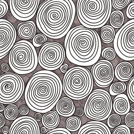 Abstracte naadloze bloem, getekend met krullen vector textuur. Behang, achtergronden, decoratie, stof voor uw ontwerp.