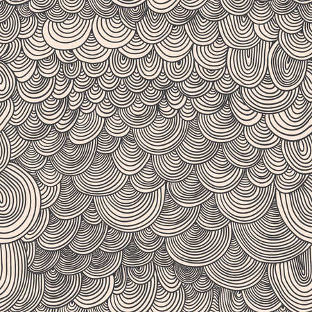 Seamless pattern with circular, radial, linear, wavy lines
