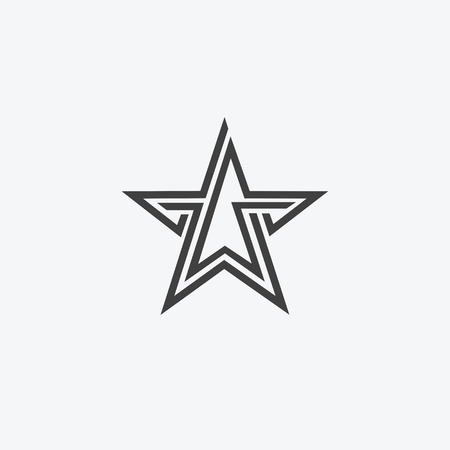 Star isolated flat web mobile icon. Vector graphic illustration.