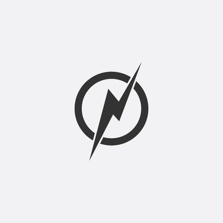 Lightning, electric power vector icon design element. Vectores