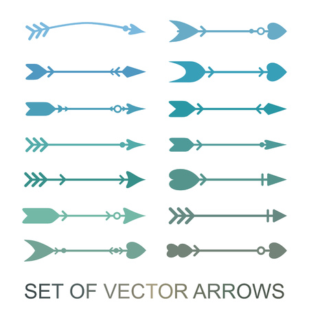 Different arrows icons, vector set. Abstract elements for business info-graphic. Up and down trend. Illustrations for web design.