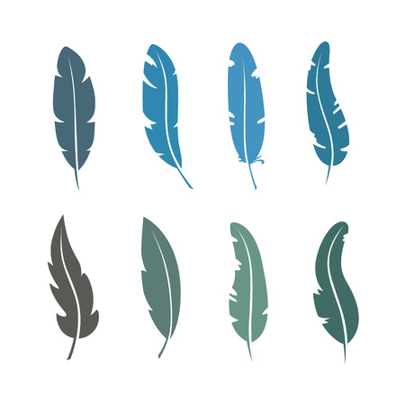 Different set of feather vector icon