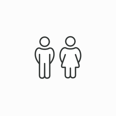 Male and Female gender symbol set, Man Woman sign vector icon.