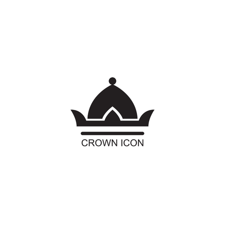 Graphic simple form of the royal crown on an isolated background. Symbols of power are the emperor, the queen, the princess. Insulated jewelry. Vector illustration. Logotype, Logo Çizim