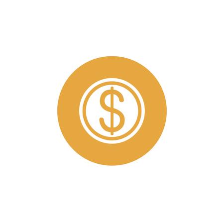 Icon graphic banknote, dollar, money. Black and white pictogram for web design. Vector flat illustrations, logo Çizim
