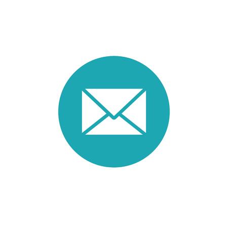 Icon graphic envelope. Black and white pictogram for web design. Vector flat illustrations, logo