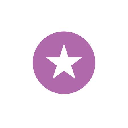 Star isolated flat web mobile icon. Vector graphic illustration. Logotype, logo Çizim