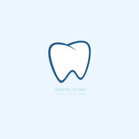 Vector graphic icon template for dental clinic. dentist treatment and health and mouth. Illustration for your business. Logotype, Logo