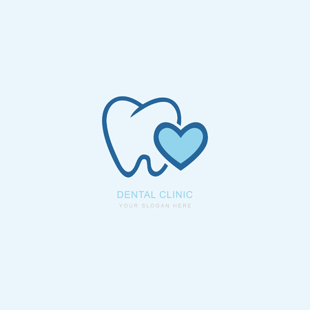 Vector graphic icon template for dental clinic. dentist treatment and health and mouth Hospital. Art illustration for your business. Logotype, Logo Illustration
