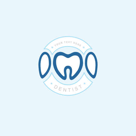Vector graphic icon template Concept for dental clinic. dentist treatment and health and mouth Hospital. Art illustration for your business. Çizim