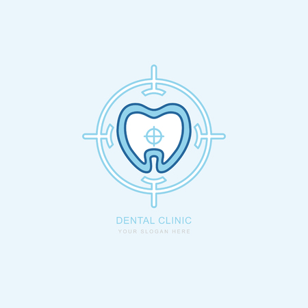 Vector graphic icon template Concept for dental clinic. dentist treatment and health and mouth Hospital. Art illustration for your business. Logotype, Logo