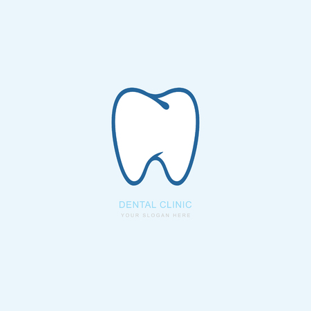 Vector graphic icon template for dental clinic. dentist treatment and health and mouth. Illustration for your business.