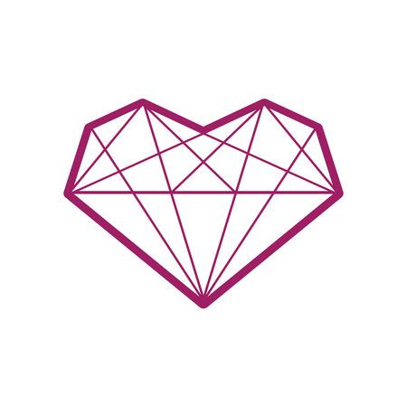 coeur diamant: Coeur de diamant icône diamant coeur symbole diamant modèle de coeur diamant icône losange modèle de diamant coeur icône modèle coeur symbole de coeur