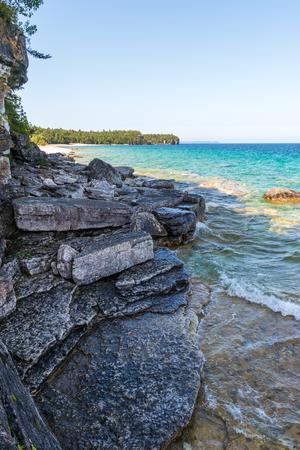 Bruce Peninsula shoreline at Cyprus Lake National Park Ontario o
