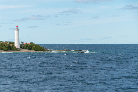 Cove Island Lighthouse Tobermory, Bruce Peninsula Landscape