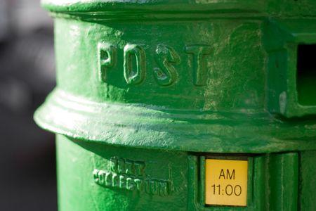 Green Irish Mailbox - Dublin photo