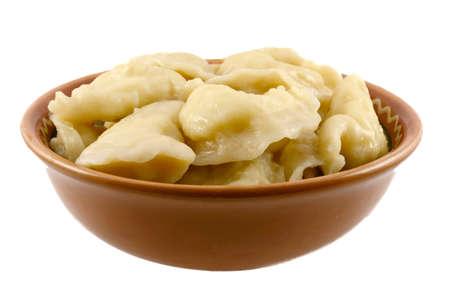 Vareniki with a potato in oil