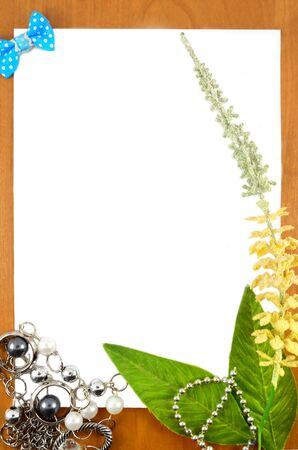 Frame for a photo with a yellow flower and blue butterfly