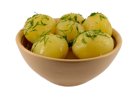 Boiled potato with fennel