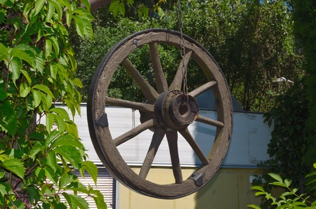 Wheel from an ancient vehicle