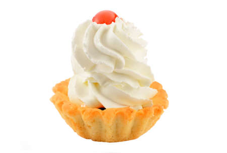 Cake with milk  air-cream and jelly cherry Stock Photo - 15778238