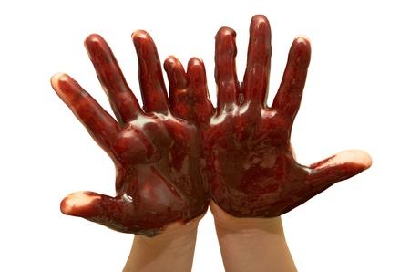 human's arm: Small children Stock Photo