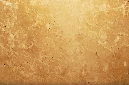 yellowed: Wrinkled old yellowed paper as natural background Stock Photo