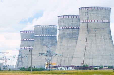 Power plant in operation. Output pairs of tubes