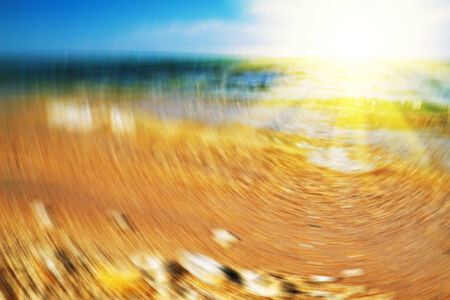 Dawn on the sea with artificial blur Stock Photo