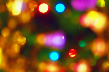 Natural red blur abstract christmas background