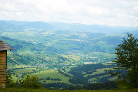 Valley in the Carpathian mountains