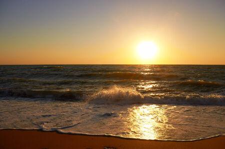 Evening sunset on the Black Sea