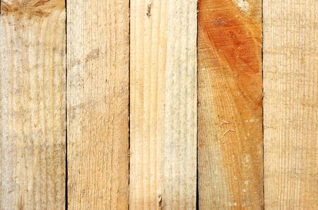 Natural background of wooden edging boards Stock Photo