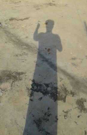 ghostly: A shadow of a man male
