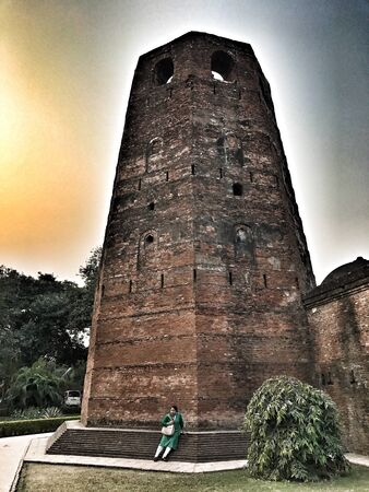 An ancient mosque in India Stock Photo