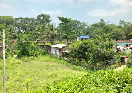 An Indian village in the natural environment