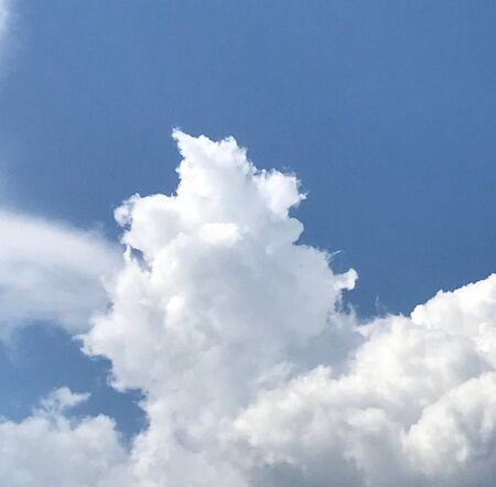 An wonderful cloudscape in the blue sky Stock Photo