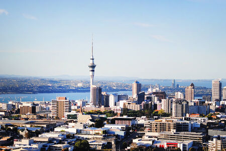 Auckland lookout from mount Eden