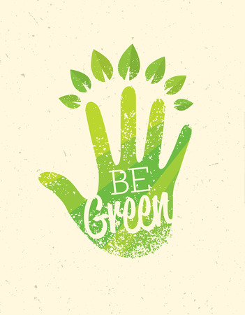 Be Green Eco Organic Food Nature Friendly Vector
