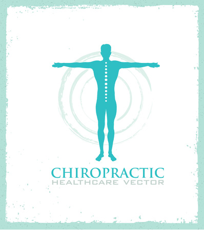 Chiropractic, massage, back pain and osteopathy icon.