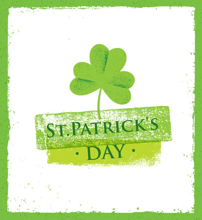 patrics: St. Patricks Day rough poster vector design concept.