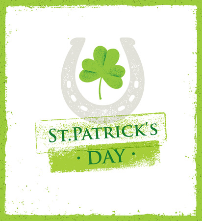 St. Patricks Day rough poster vector design concept.