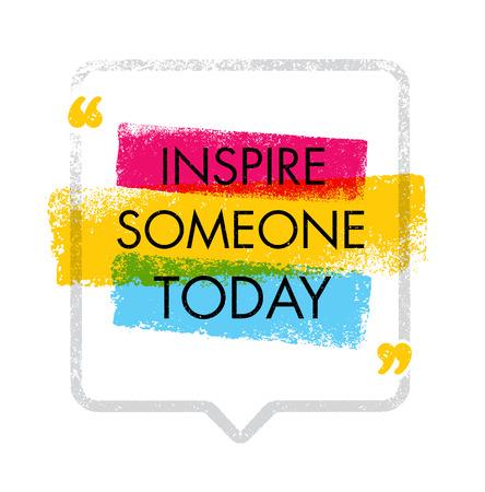 今日誰かを抱かせます。創造的なインスピレーション イメージ ベクトル イラスト。動機引用デザイン コンセプト  イラスト・ベクター素材