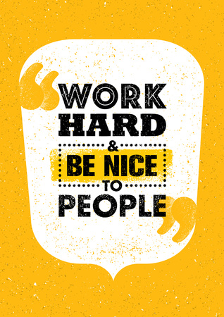 Work Hard And Be Proud Of What You Achieve. Inspiring Creative Motivation Quote. Typography Design Concept On Grunge Background Illustration