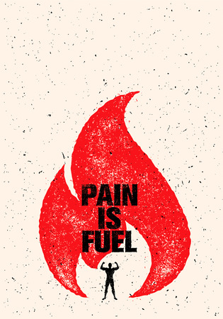 Pain Is Fuel Sport And Fitness Motivation Quote.