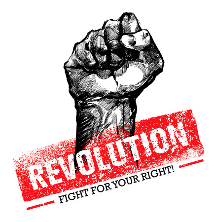 Revolution SocialProtest Creative Grunge Vector Concept on Rough Grunge Background Stok Fotoğraf - 73471485